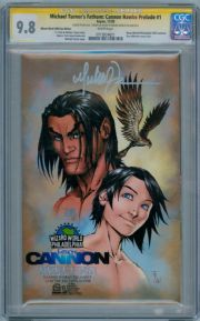 Fathom Cannon Hawke Prelude #1B Wizard World Variant CGC 9.8 Signature Series Signed Michael Turner Aspen